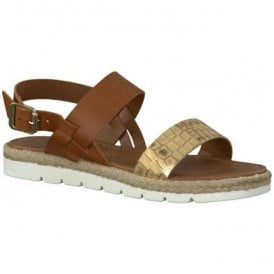 Womens Nut-Combi Buckle Up Sandals 2-2-28618-26 441