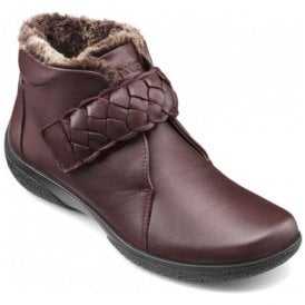 Womens Daydream Maroon Extra Wide Ankle Boots
