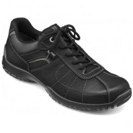 Mens Thor GTX Jet Black Nubuck Waterproof Lace Up Shoes