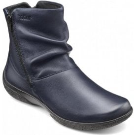 Womens Whisper Extra Wide Rich Navy Leather Ankle Boots