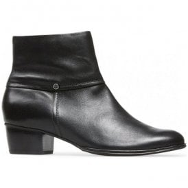 Womens Juliette Black Leather Ankle Boots 2386120