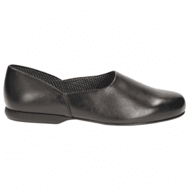 Mens Harston Lounge Black Leather Slippers