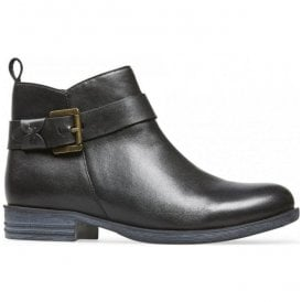 Womens Lynn X Black Leather Ankle Boots 2963120