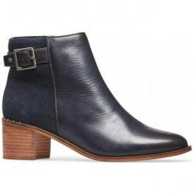 Womens Mercer Navy Leather Ankle Boots 2918420