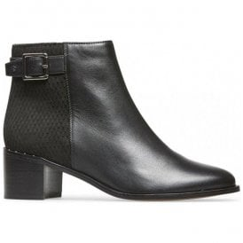 Womens Mercer Black Leather Ankle Boots 2918120