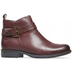 Womens Lynn X Bordo Leather Ankle Boots 2963520