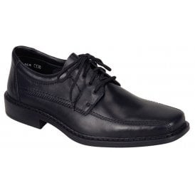 Mens Clarino Black Lace Up Shoes B0812-01