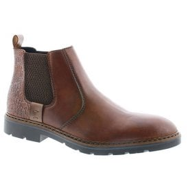 Mens Clarino Brown Leather Chelsea Boots F3553-24