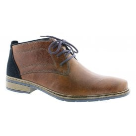 Mens Russia Brown Lace Up Chukka Boots 10844-25