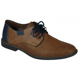 Mens Ramon Brown-Combi Leather Lace Up Formal Shoes 13404-25