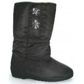 Womens LB852AX Black Side Touch Fastening Waterproof Calf Boots