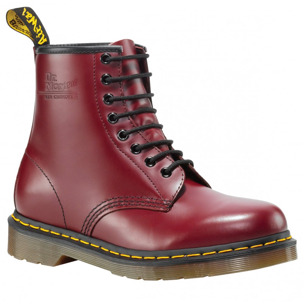 Dr Martens Red Patent Shoes