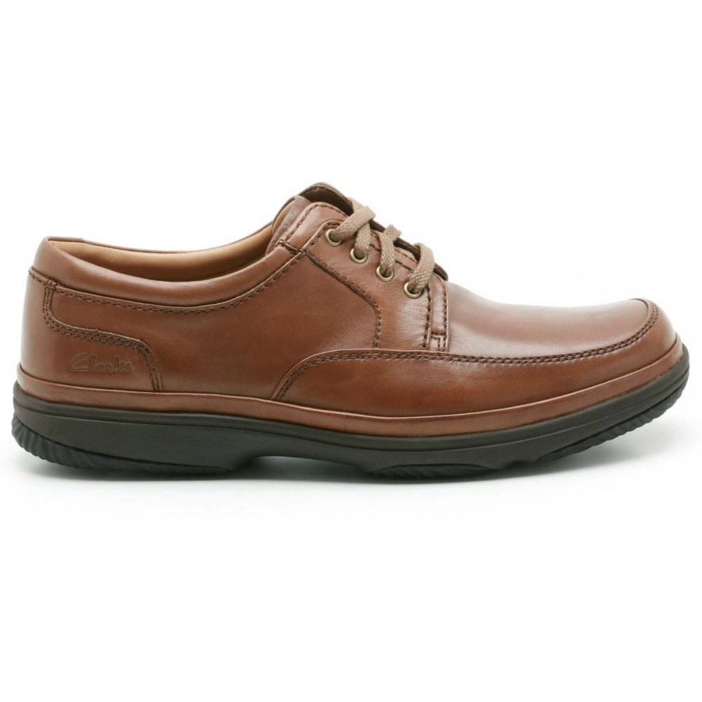 Clarks Swift Mile Mahogany Leather 12 UK H / 47 EU eYRDi