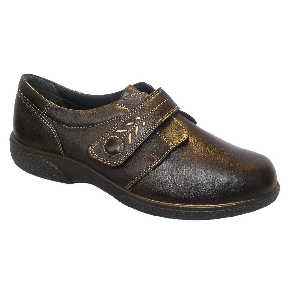 db shoes womens healey chocolate velcro wide shoes 79315b 4e