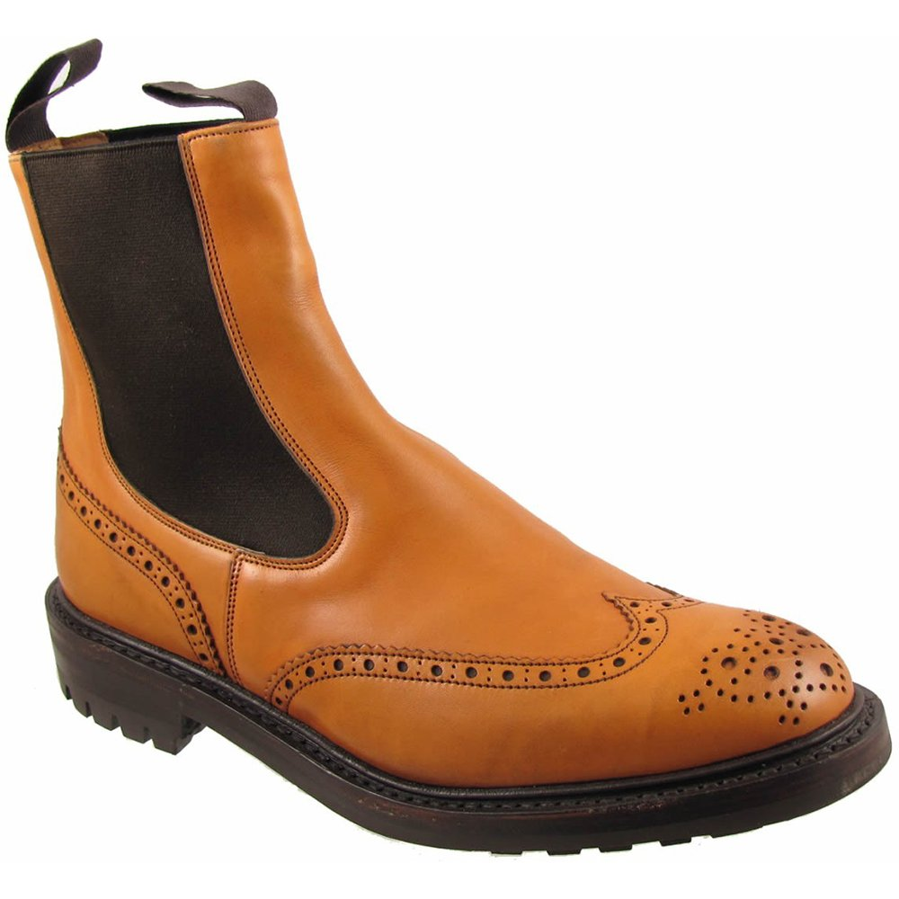 trickers mens henry commando brogue boot from marshall shoes