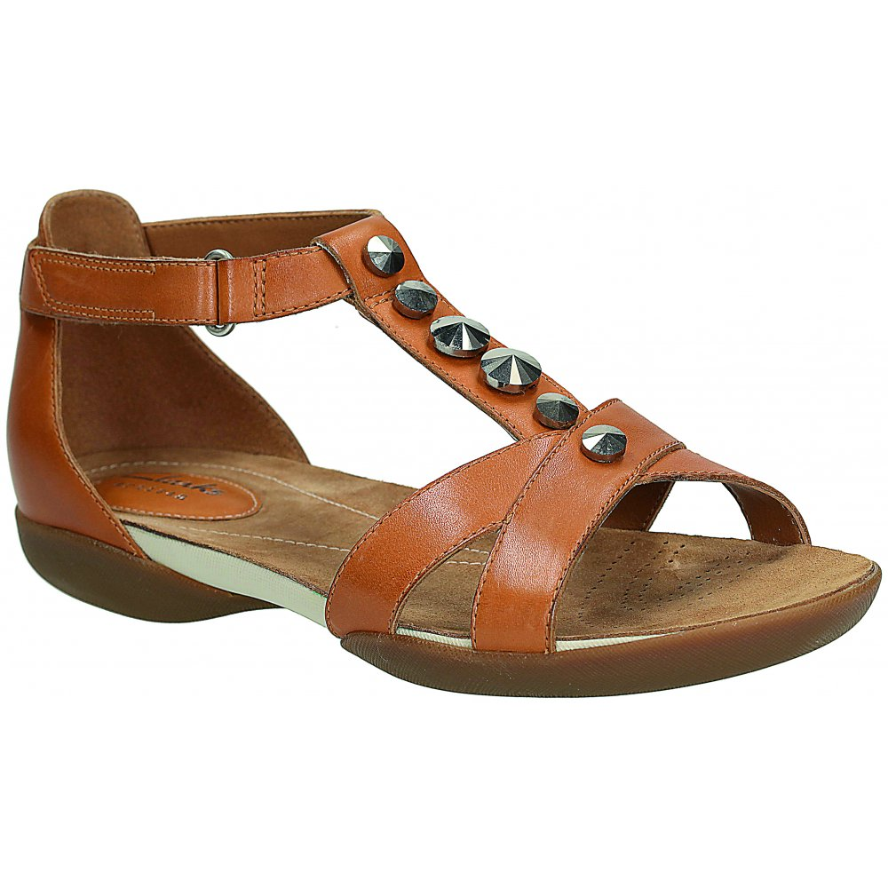 Ladies Raffi Scent Tan Leather Sandals Marshall Shoes