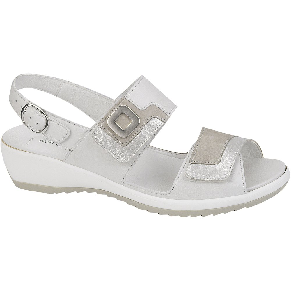 Waldlaufer Womens Ginger Memphis Off-White Sandals 225006 300 965. ‹