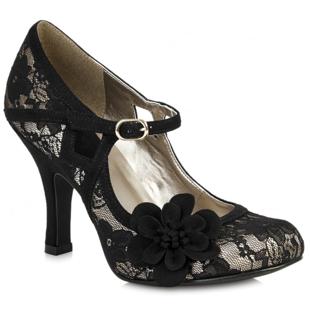 Womens Black Court Shoes