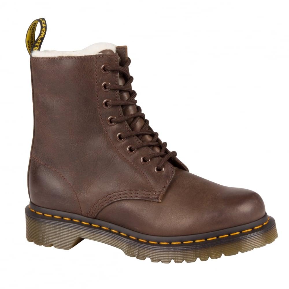 dr martens womens serena dark brown boots 21797201. Black Bedroom Furniture Sets. Home Design Ideas