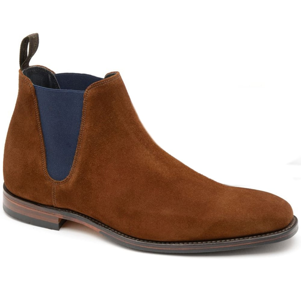 loake mens caine brown suede chelsea boots