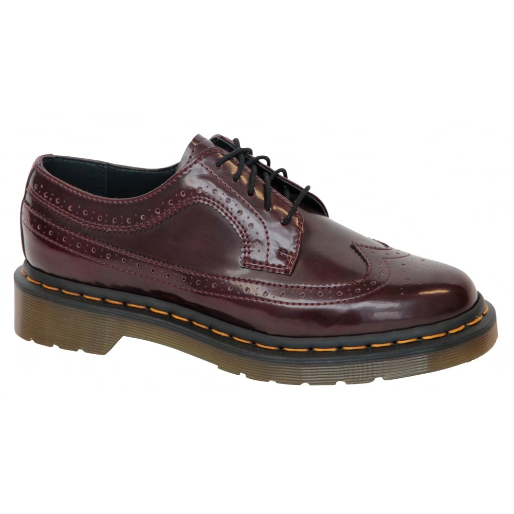 dr martens womens vegan 3989 cherry brogue shoes 16153601