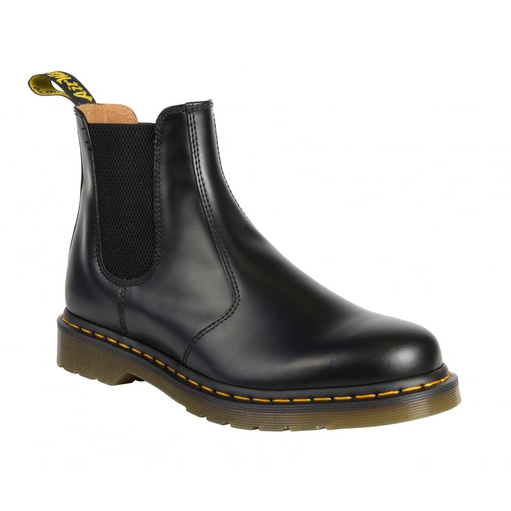 dr martens mens 2976 black smooth chelsea boots 22227001. Black Bedroom Furniture Sets. Home Design Ideas
