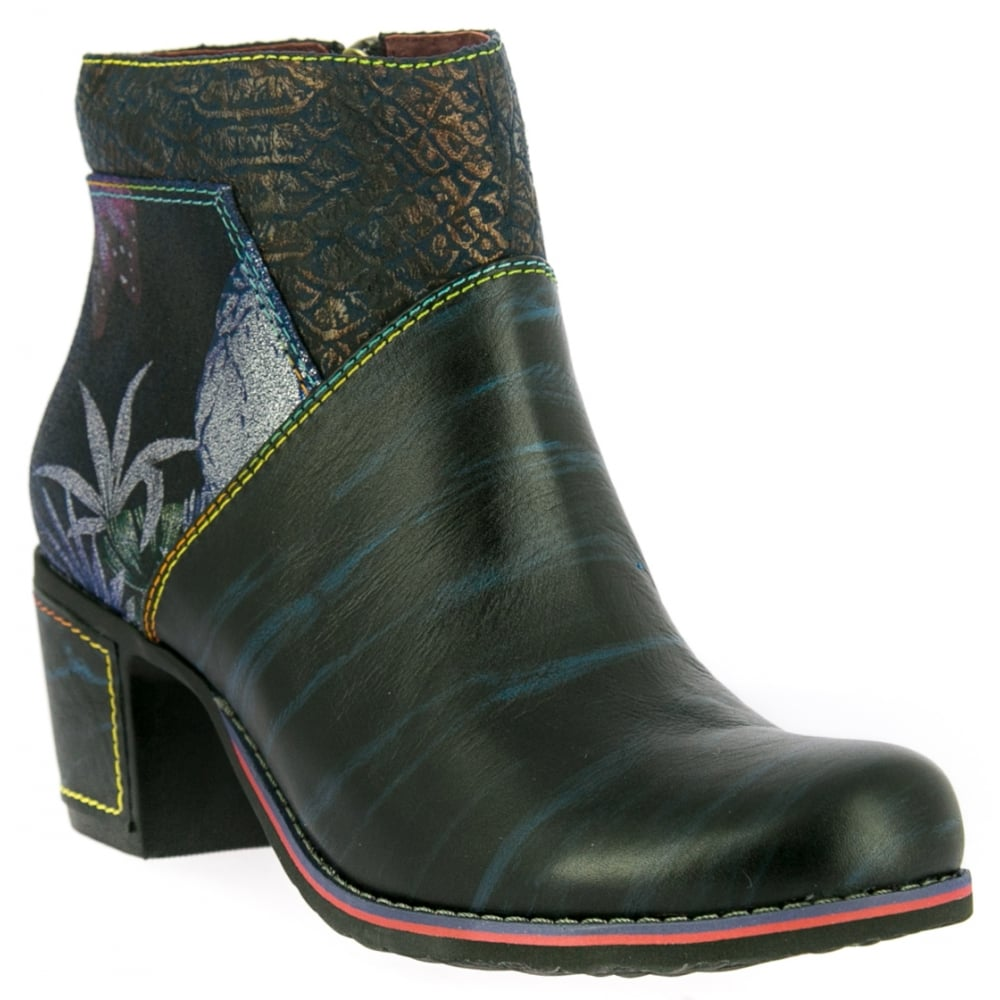 laura vita womens christie 05 blue zip up heeled ankle boots. Black Bedroom Furniture Sets. Home Design Ideas