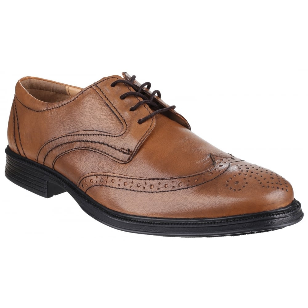 Cotswold Dudley Mens Brown Leather Upper Laced Shoe - 6 Comprar Barato Venta xlKfKn2x