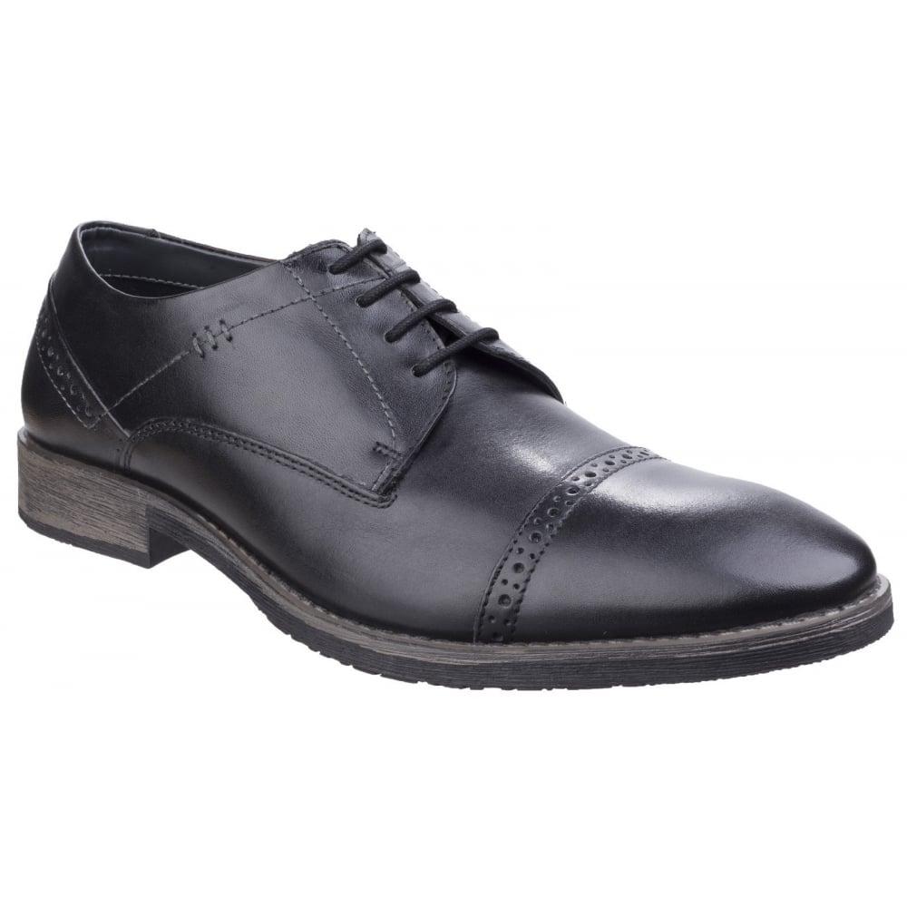 hush puppies mens craig luganda black leather formal shoes