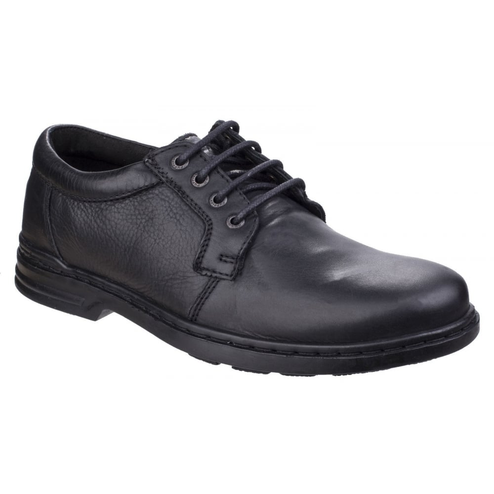 hush puppies mens george hanston black formal lace up shoes
