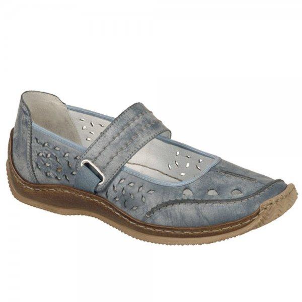 b1fed5b96c Rieker Ladies Celia Denim Blue Mary Jane Shoe L1766-12