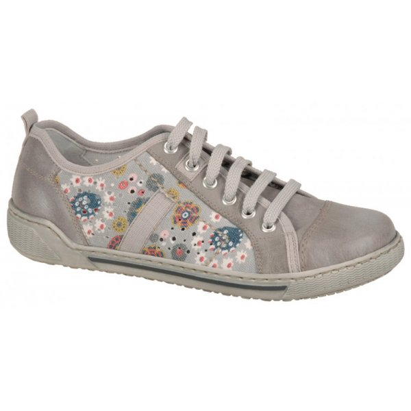 80415dd2ae06ca Rieker Womens Judith Grey Trainer Style Shoe 42425-60 From Marshall ...