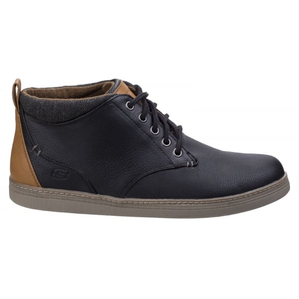 Helmer Mens Black Lace up Casual Ankle
