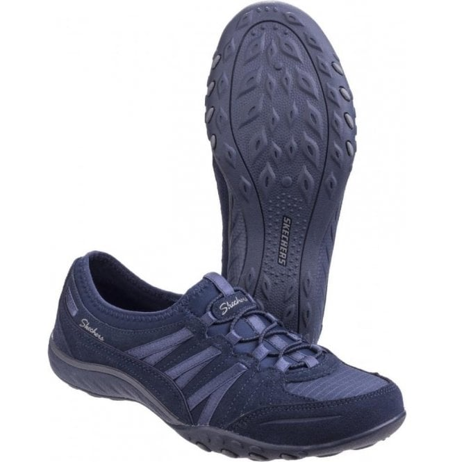 Moneybags Navy Bungee Lace Trainers