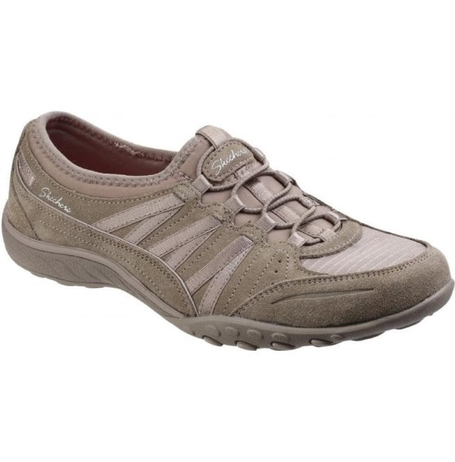 Damenschuhe Taupe Relaxed Fit  Breathe Easy Up Moneybags Lace Up Easy Trainers ... 9ca076