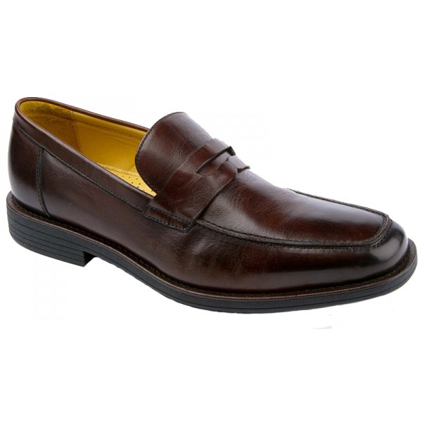 Steptronic Mens 'Audi' Brown Leather Penny Loafer Shoe