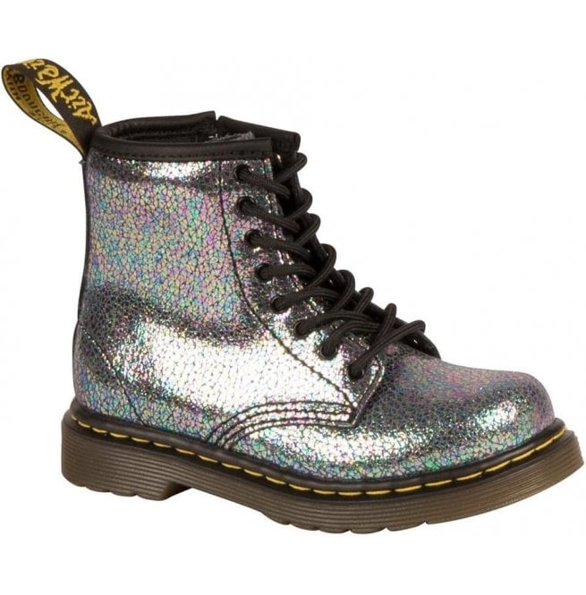 5faa593aa7140 Dr Martens Toddler Grey Lace Up Ankle Boots 21511020