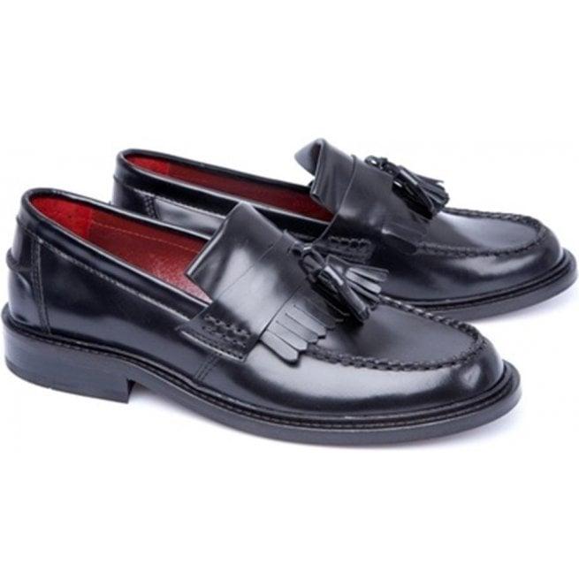 d1c0b3e70c517 Unisex Rude Boy Black Fringed Tasseled Loafers