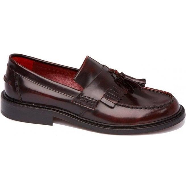 9c91ef5e14a37 Delicious Junction Unisex Rude Boy Hi-Shine Bordo Tasseled Loafers