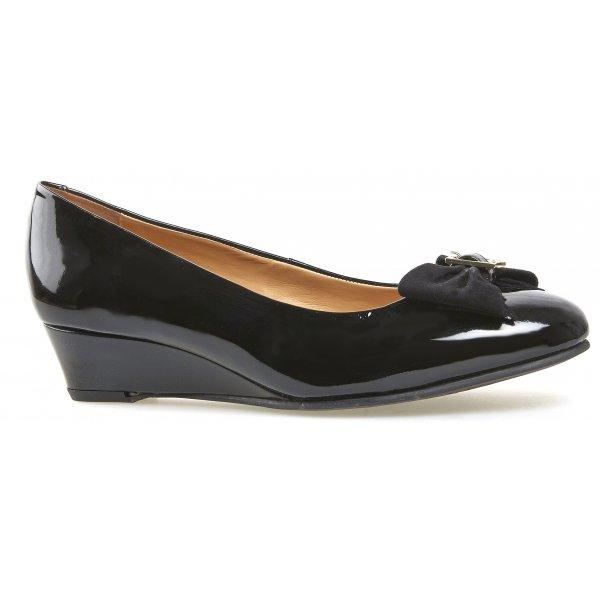 Van Dal Womens Marion Black Patent Wedge Court Shoe b15ab35a697