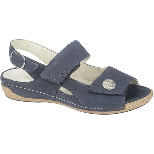 21fa3ddb Waldlaufer Womens Heliett Denver Navy Velrco Sandals