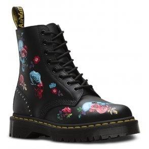 1272fc1a4d0cc Womens 1460 Pascal Bex Rose Black Multi Lace-Up Ankle Boots 24424001 · Dr  Martens ...