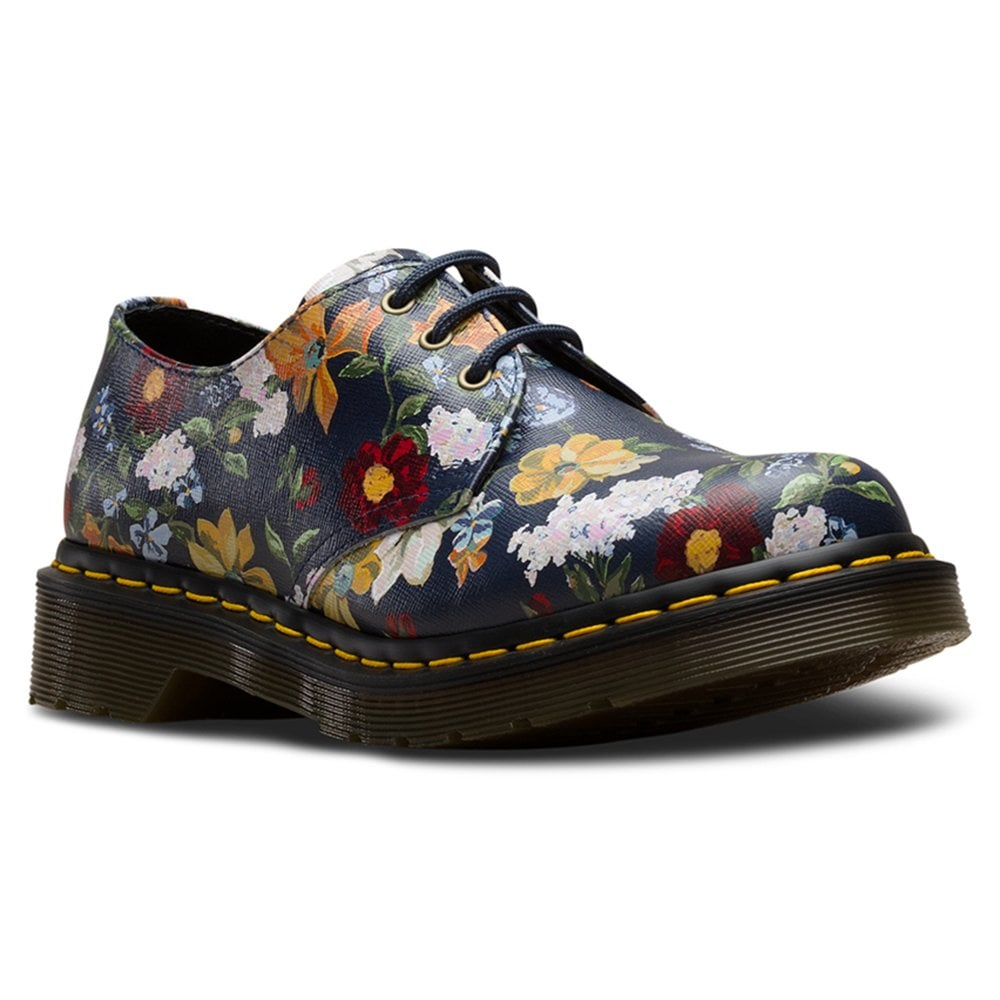 660fc4bd0ae3d Womens 1461 Navy Darcy Floral Backhand Lace Up Shoes 23873417
