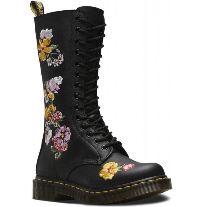 2304726549d3 Dr Martens Dr Martens Womens 1914 Vonda II Black Softy T 14 Eyelet Lace Up  Boots 24062001