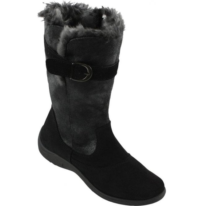 Rohde 2814 90 Black Suede Leather