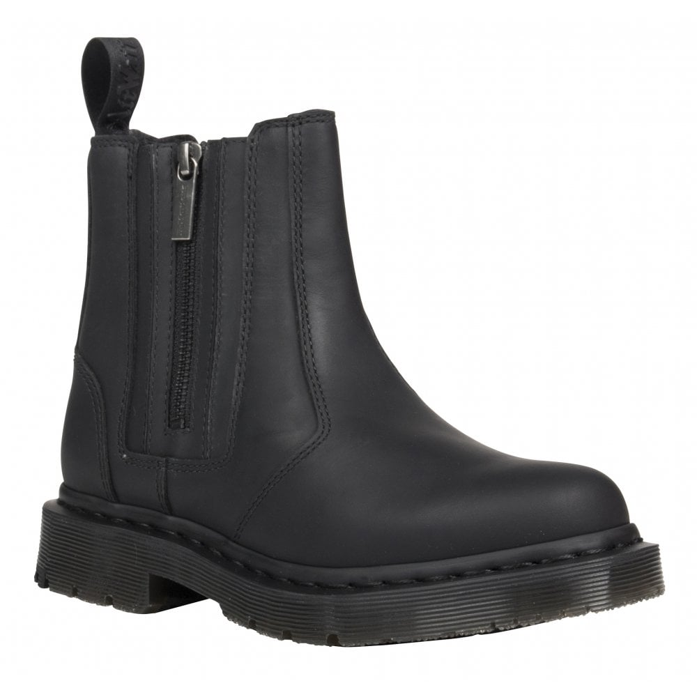 Womens 2976 Alyson Wintergrip Snowplow Black Zip Up Ankle Boots 24016001