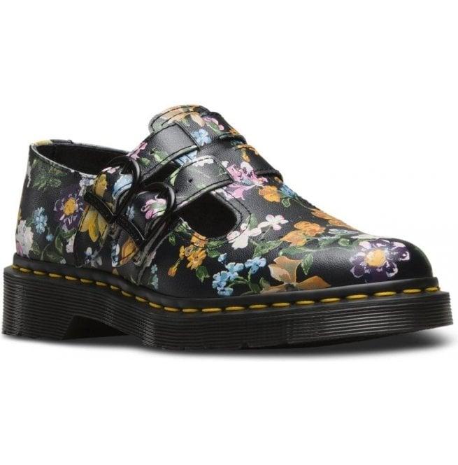 Markenqualität exquisite handwerkskunst auf Füßen Aufnahmen von Dr Martens Womens 8065 Black Darcy Floral Mary Jane Shoes 22948001