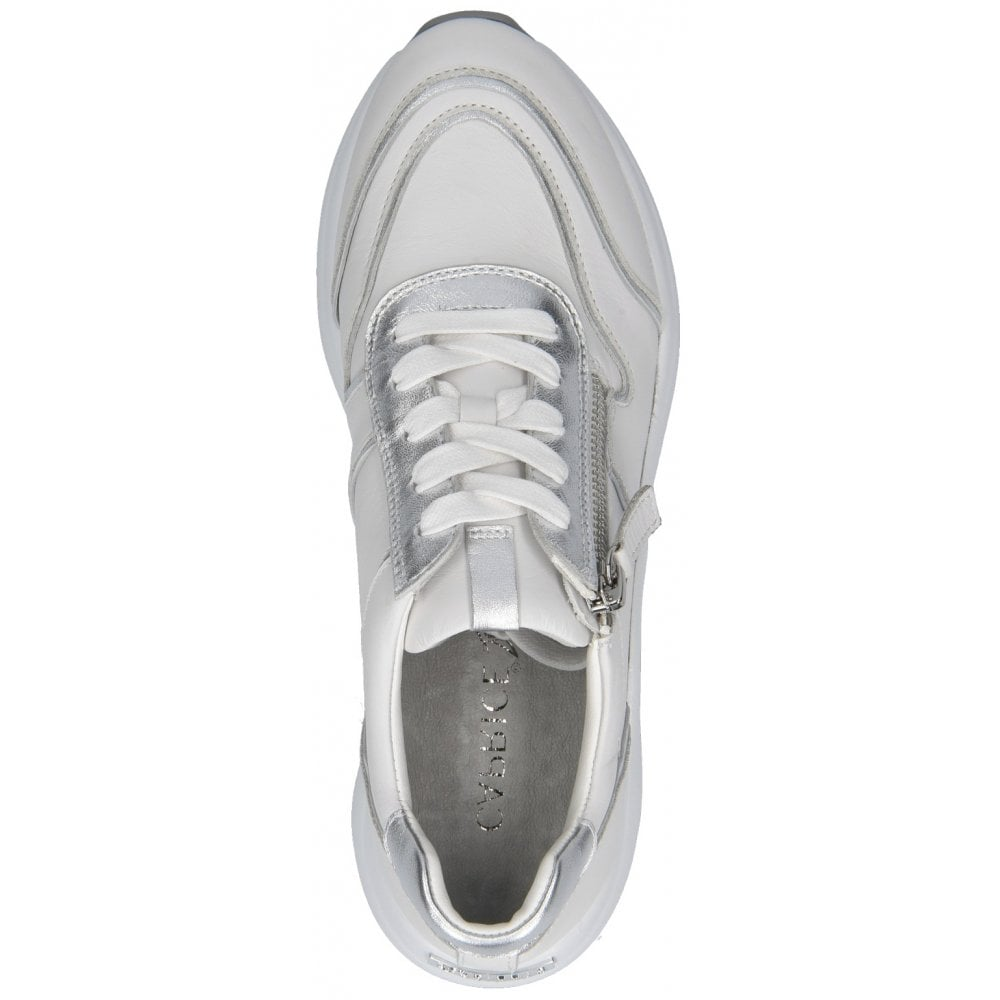 9-23704-24 191 White/Silver Trainers