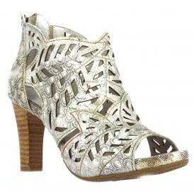 Womens Niagara Grey Block Heeled Sandals 66506 42