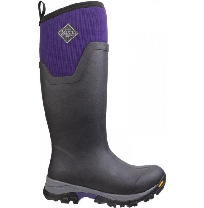 6ff21d8dfde4 Muck Boots Muck Boots Womens Arctic Ice Black Purple Tall Extreme  Conditions Sport Boots
